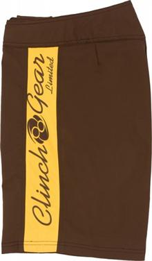 Clinch Gear Brown & Gold Performance Shorts